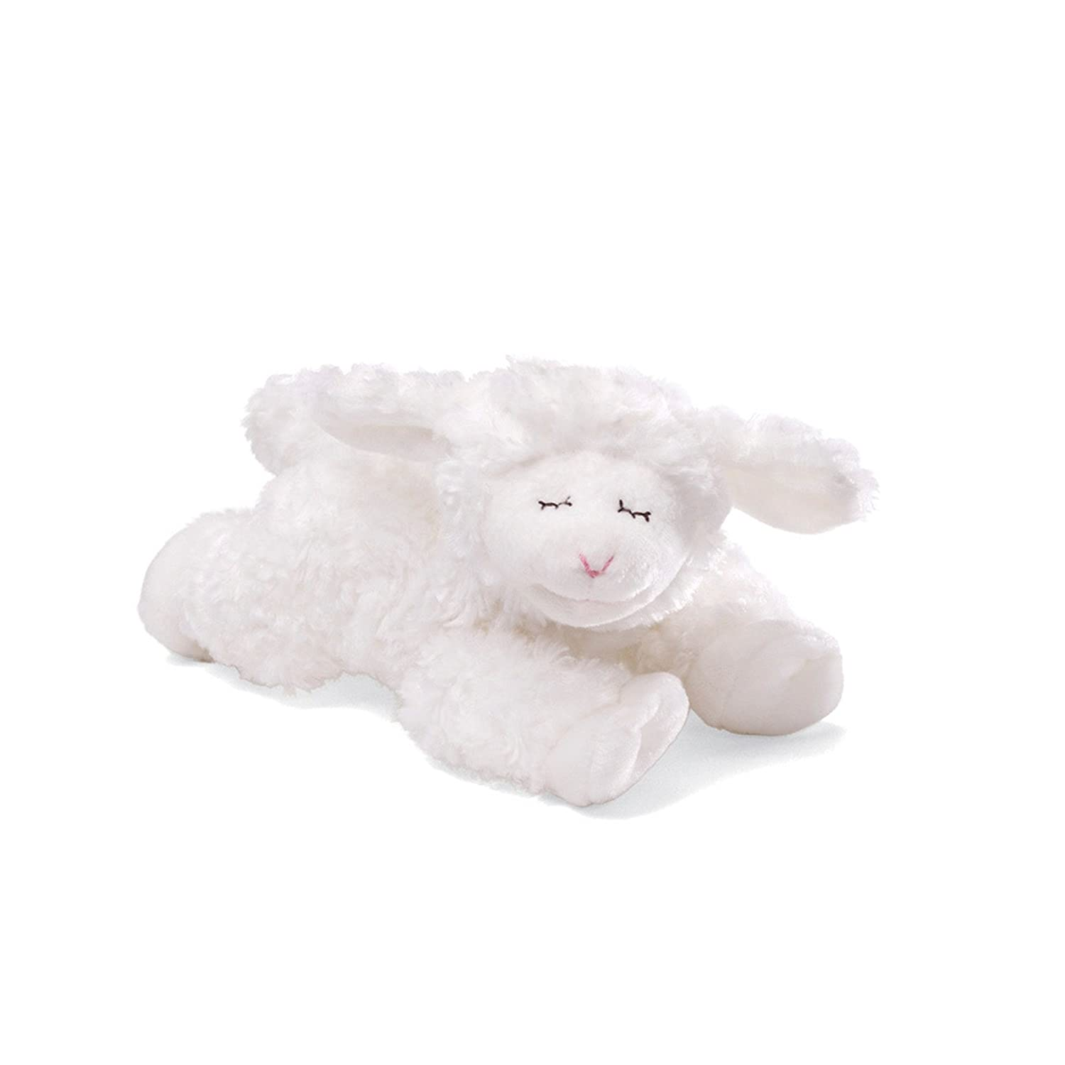 Amazon Com Baby Gund Winky Lamb Stuffed Animal Plush Rattle White