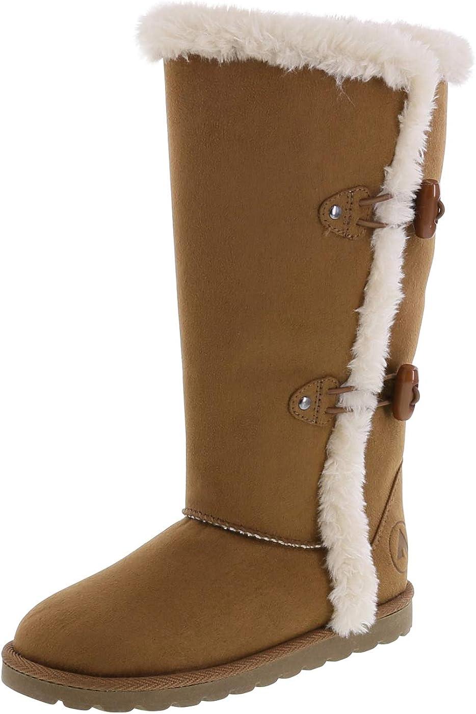 Airwalk Girls' Myra Tall Boots Brown