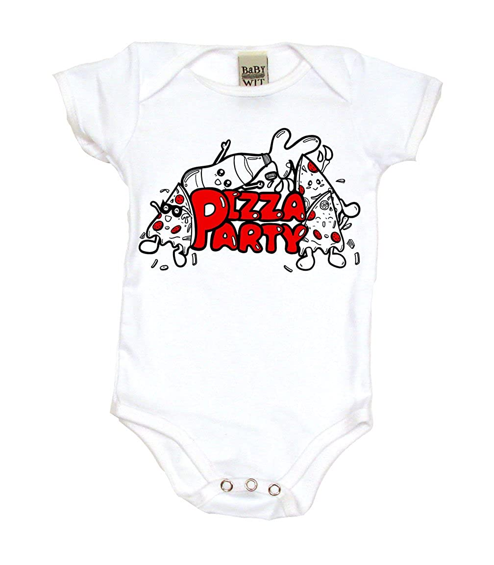e2589152172 Amazon.com: Pizza Party Retro Cool Baby Onesie, Bodysuit or T-Shirt   Retro  Cool Baby Gift: Clothing