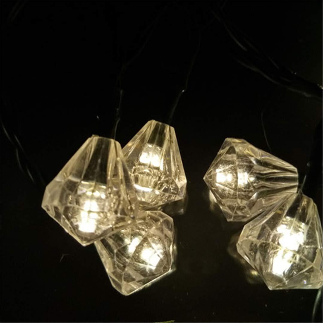 BGFHDSD Cute Solar Diamond Garland String Lights Lamp 20LED 4.8M LED Fairy Lamps for Wedding Festival Party Garden Decoration Warm White