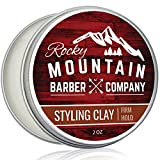Hair Styling Clay for Men – Molding Hair Product with Firm Hold for Shorter Styles – Workable Shine-Free Matte Finish with Natural Plant Derived Ingredients- 2 OZ
