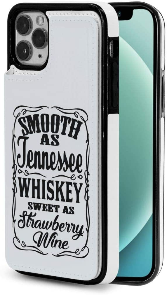 I-Phone 12 Series Smooth As Tennessee Whiskey 2 Wallet Design Fashion Eather Phone Case