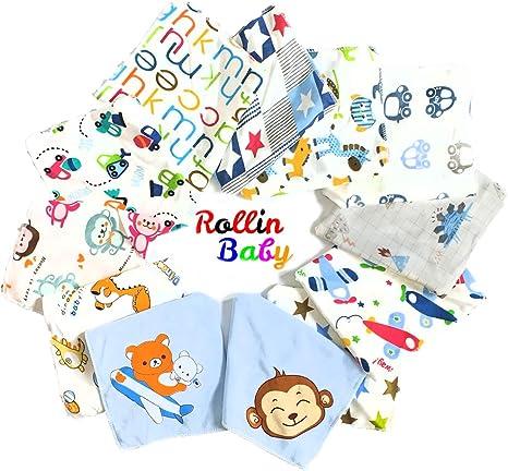 ROLLIN baberos bebe para niño | bandana bebe impermeables, bufanda ...