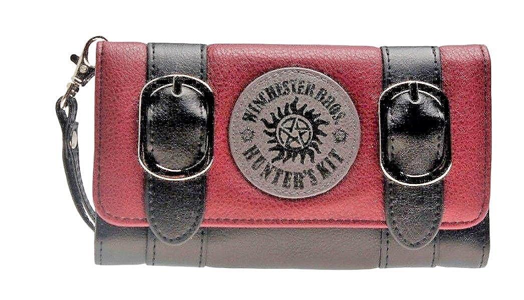 Supernatural Winchester Brothers三つ折りサッチェルフォールド レディース ハンドパース クラッチ財布   B07DPHKW63