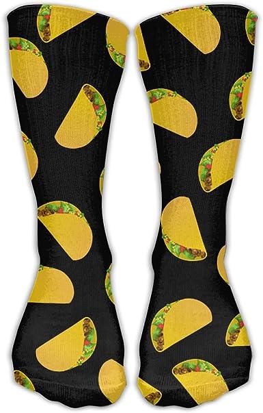 Llama Taco Unisex Novelty Crew Socks Ankle Dress Socks Fits Shoe Size 6-10