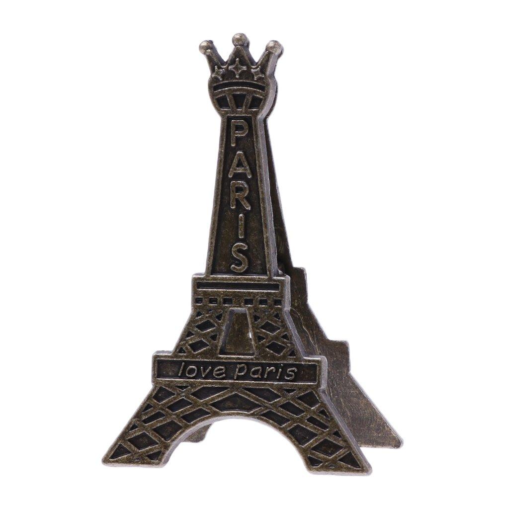 ruierty Vintage Eiffel Tower Paris Metal Memo Paper Clip for Message Decoration Photo