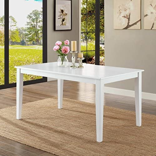 Better Homes and Gardens Bankston Dining Table, (1, White)
