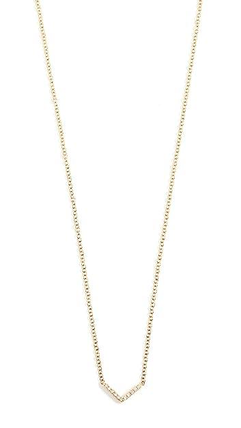 Amazon.com  EF Collection Women s 14k Gold Diamond Mini Chevron ... 2632ceb86