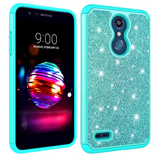 LG K30 Case,LG K10 2018 Case, LG Premier Pro LTE Case, LG Phoenix Plus/LG K10 Plus/LG K10 Alpha Case, YMH Glitter Bling Shiny Full-Body Protective Shockproof Case Cover for LG K30 - Green