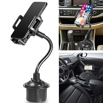 Heligen_Accesorios para coches Soporte Móvil Coche con 360° Rotación, Porta Movil Coche para la Mayoría de los Teléfonos (Negro): Amazon.es: Electrónica