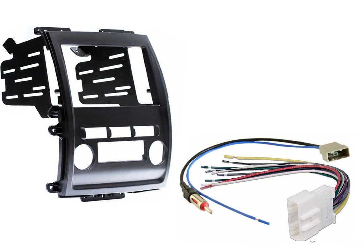 Nissan Frontier Xterra 2009-2013 Aftermarket Radio Stereo Double Din Dash Kit w/ Wire Harness & Antenna Adapter CIP