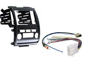 Nissan Frontier Xterra 2009-2013 Aftermarket Radio Stereo Double Din Dash Kit w/ Wire Harness & Antenna Adapter