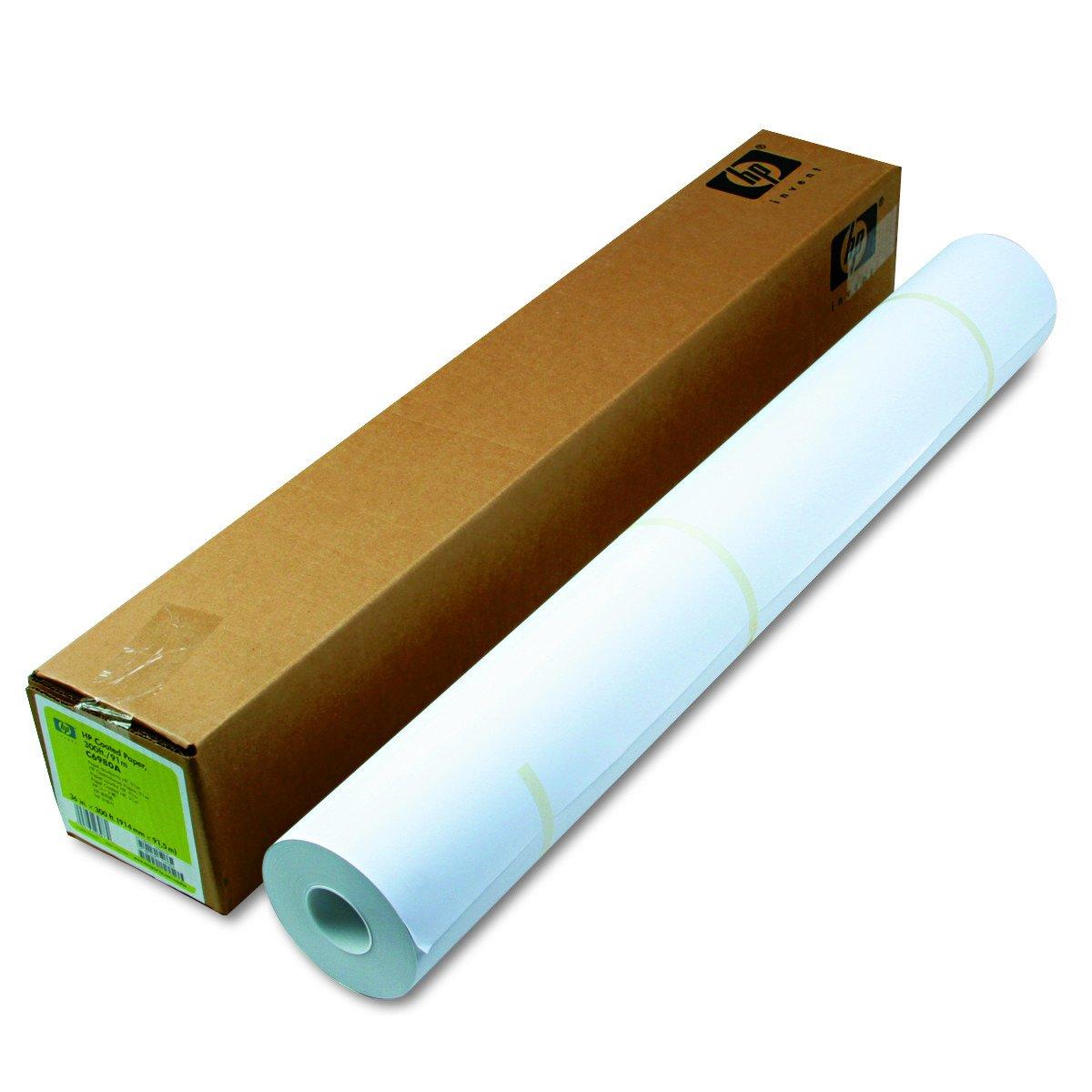 HP C6980A Designjet Inkjet Large Format Paper, 4.5 mil, 36'' x 300 ft, White