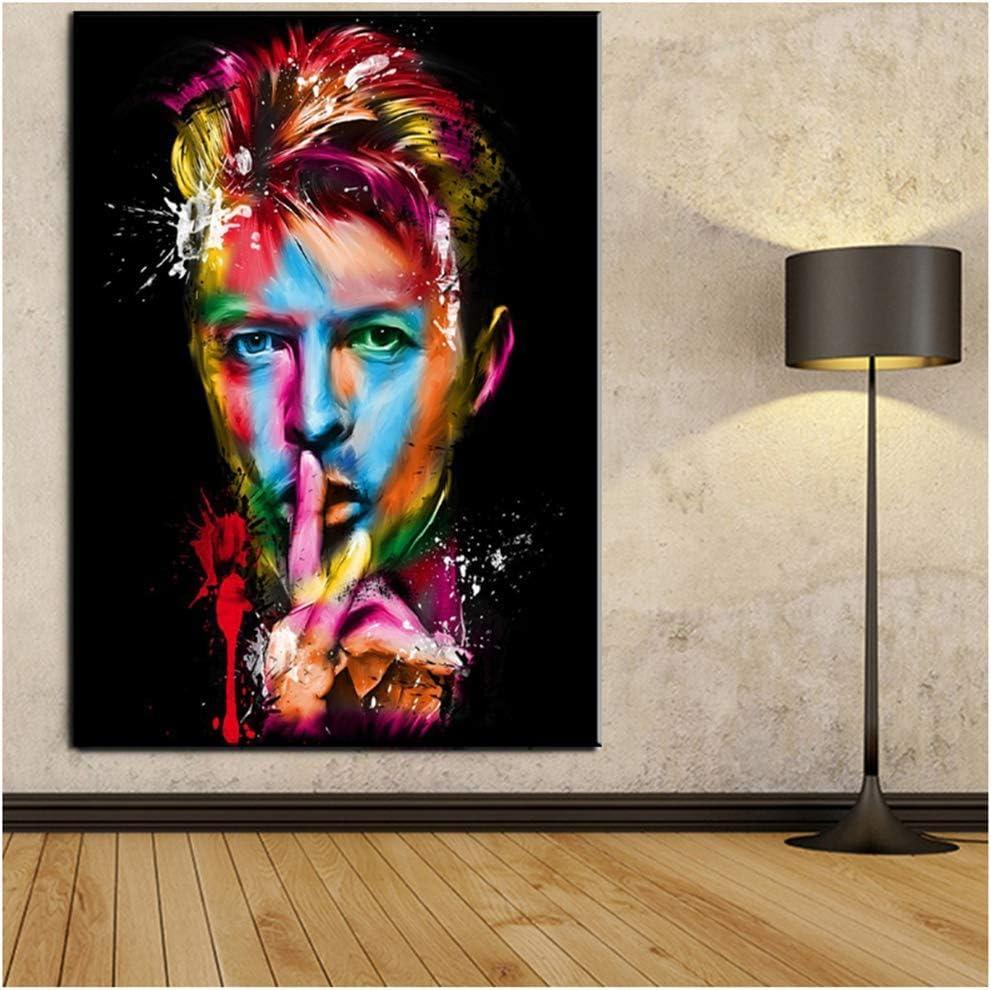 NR David Bowie Impression sur Toile pour Poster Peinture pour s/éjour et Chambre /à Coucher D/écoration sans Cadre 50 x 75 cm
