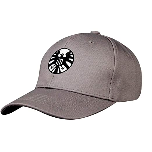 77926b770 Gankchen Captain Cosplay Shield Logo Hats Size Adjustable Cap Baseball Caps  Gray