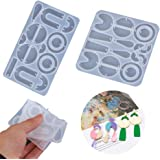 SKONHED 2PCS Silicone Earring Mold, Earring Resin Mold, Jewelry Making Tools, Suitable for Craft Lovers DIY Fashion Pendant J