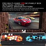 Focussexy 2 Players Pandora's Box Plus Ultra Slim Metal Double Joystick and Buttons Arcade Game Console 1299 Classic Games Machine For Arcade Joystick Windows PC & TV VGA HDMI Output
