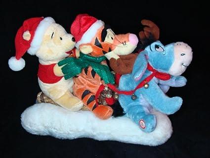 amazon com disney animated pooh eeyore tigger christmas sleigh