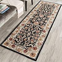 Safavieh Hand-hooked Easy to Care Black/ Ivory Rug (2 6 x 10)