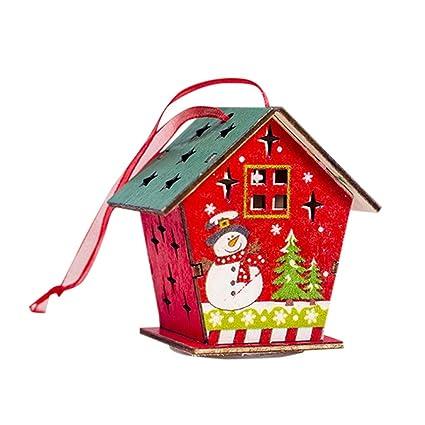Amazon.com: SSYUNO Adornos de Navidad con luz LED para casa ...