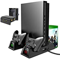OIVO Vertical Cooling Stand Compatible with 2PACK 600mAh Batteries for Xbox ONE/S/X