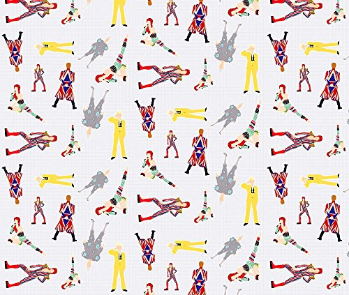 [Bowie Fabric Graph Paper Bowie by Knight Costumes Printed on Silky Faille Fabric by the Yard by Spoonflower] (Bowie Costume Designer)