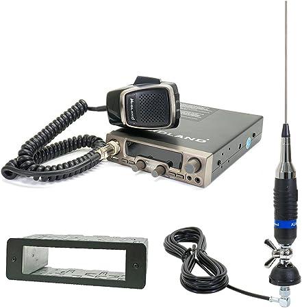 Midland CB de Radio M20 con USB (c1186) + 1 DIN Carcasa de + CB de Antena Alan S9 con Cable RG58 Incluye (T638)