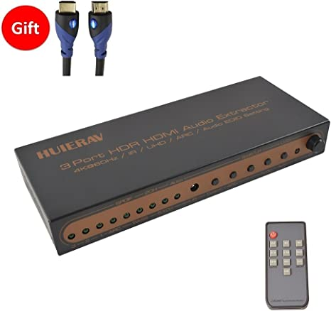 Ligawo /® Toslink Switch 3x1 dispositivos 3 SPDIF a 1 entrada Toslink