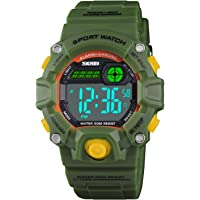 Boys Camouflage LED Sport Watch,Waterproof Digital Electronic Casual Military Wrist Kids Sports Watch with Silicone Band…