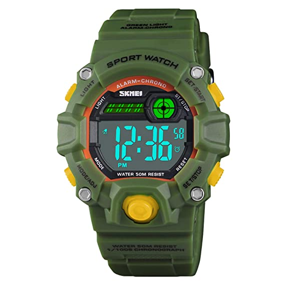79bbf5589 Amazon.com  Boys LED Sport Digital Watch