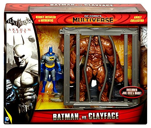 DC Comics Multiverse 4-Inch Classic Comic Skin Batman and Clayface Figure 2-Pack (Clayface Arkham City)