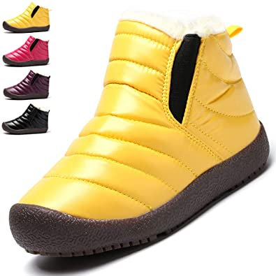 75655fc2d5e7 KVbaby Waterproof Snow Boots Boys Faux Fur Lined Ankle Booties ...