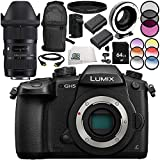 Panasonic Lumix DC-GH5 with Sigma 18-35mm f/1.8 DC HSM Art Lens + Metabones T Speed Booster XL 0.64x Adapter (MB_SPEF-M43-BT3) 13PC Accessory Bundle – Includes 64GB SD Memory Card + MORE