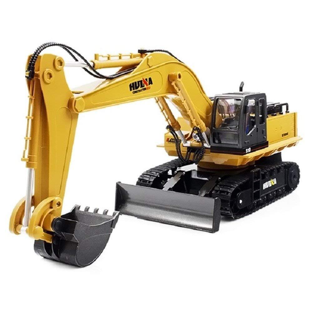 Blovevv Los Juguetes del Carro del excavador, los excavadores y Las niveladoras 2 en 1 2.4 G arrastran la función Completa Control Remoto de la aleación de la Estructura del Tractor Control Remoto