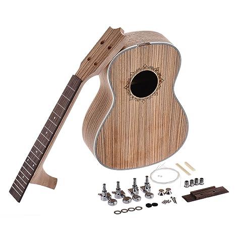 ammoon 26in Ukelele Tenor Kit de Bricolaje para Guitarra de Hawaii Cuerpo Diapasón de Palisandro con