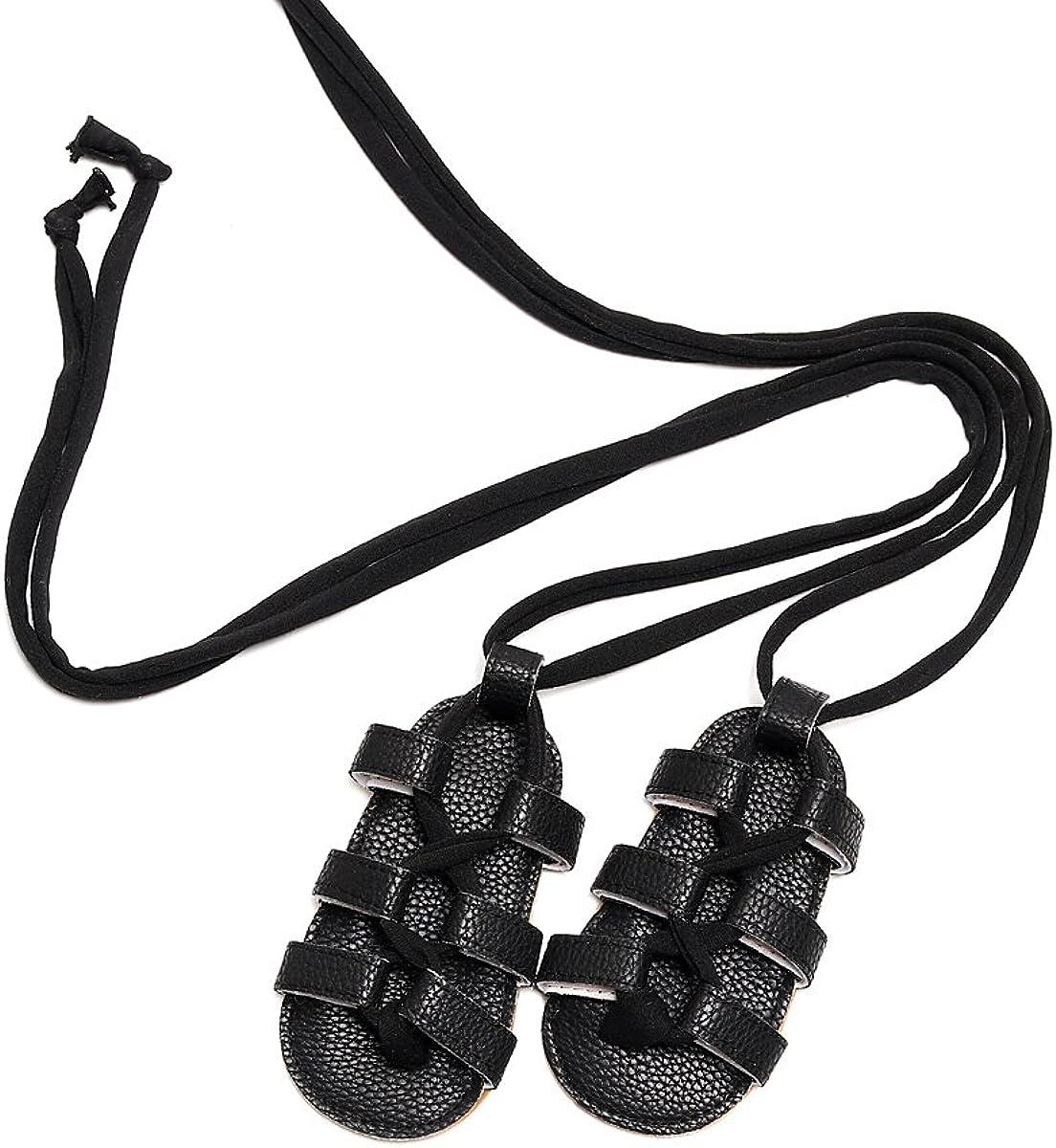 HONGTEYA Infant Toddler Baby Girl Summer Shoes Rubber Sole PU Leather Prewalker Newborn Gladiator Sandals