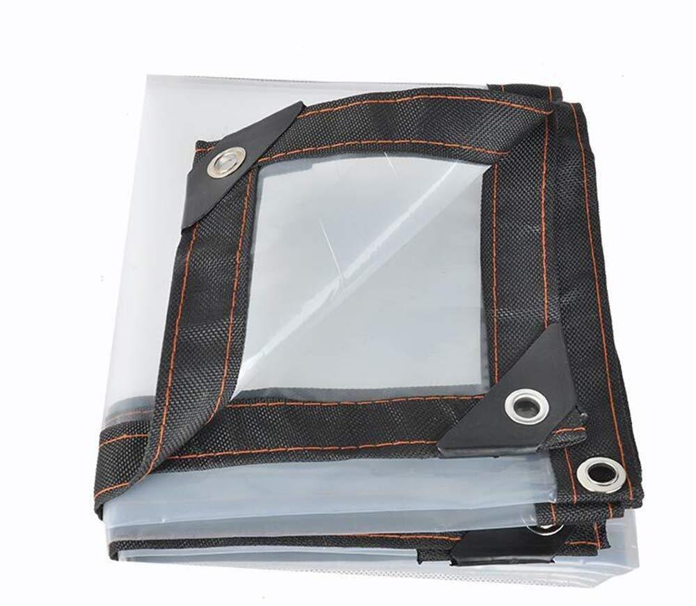 Transparent 3x3m CJC Voiles d'ombrage Feuille De BÂche Imperméable Plante Serre Couverture des Auvents Plastique De Plein Air étanche à La Poussière, Epaisseur 0.12mm (Couleur   Transparent, Taille   4x4m)