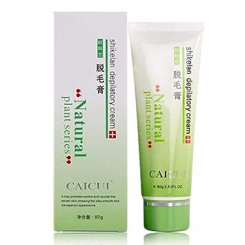 Depilatory Cream Axila Hair Remoción de la Pierna Body Hair Anti-Alergia Crema Depilatoria Sin Dolor Extracto de Plantas Naturales: Amazon.es: Salud y ...