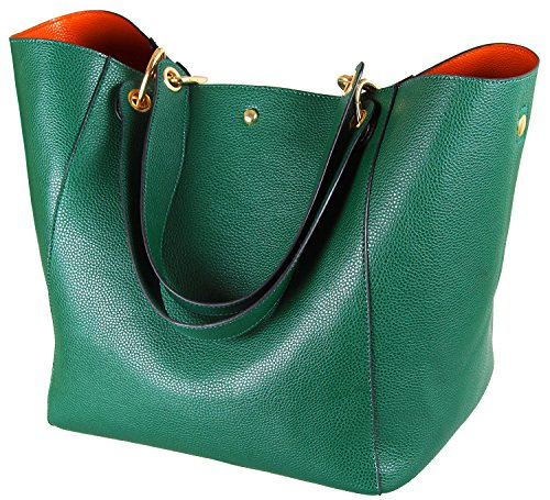 Suede Leather Tote Bag - SQLP Fashion Women's Leather Handbags ladies Waterproof Shoulder Bag Tote Bags (Green)