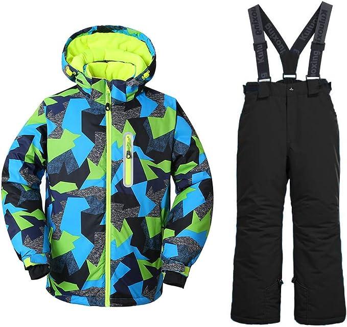 Amazon.com: GS nieve chamarra de esquí para + pantalones ...