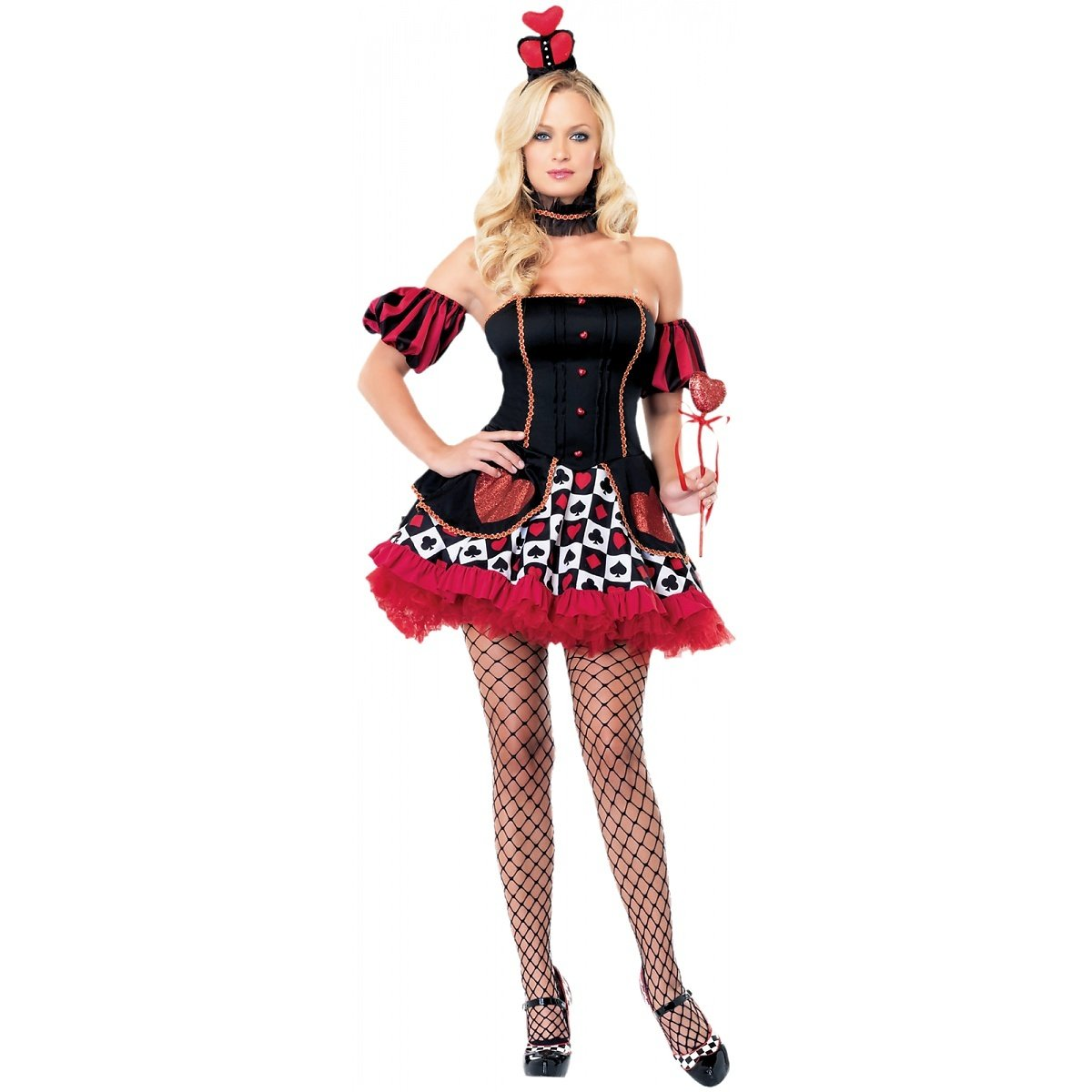 Sexy Adult Wonderland Queen of Hearts Costume (X-Small) - DeluxeAdultCostumes.com