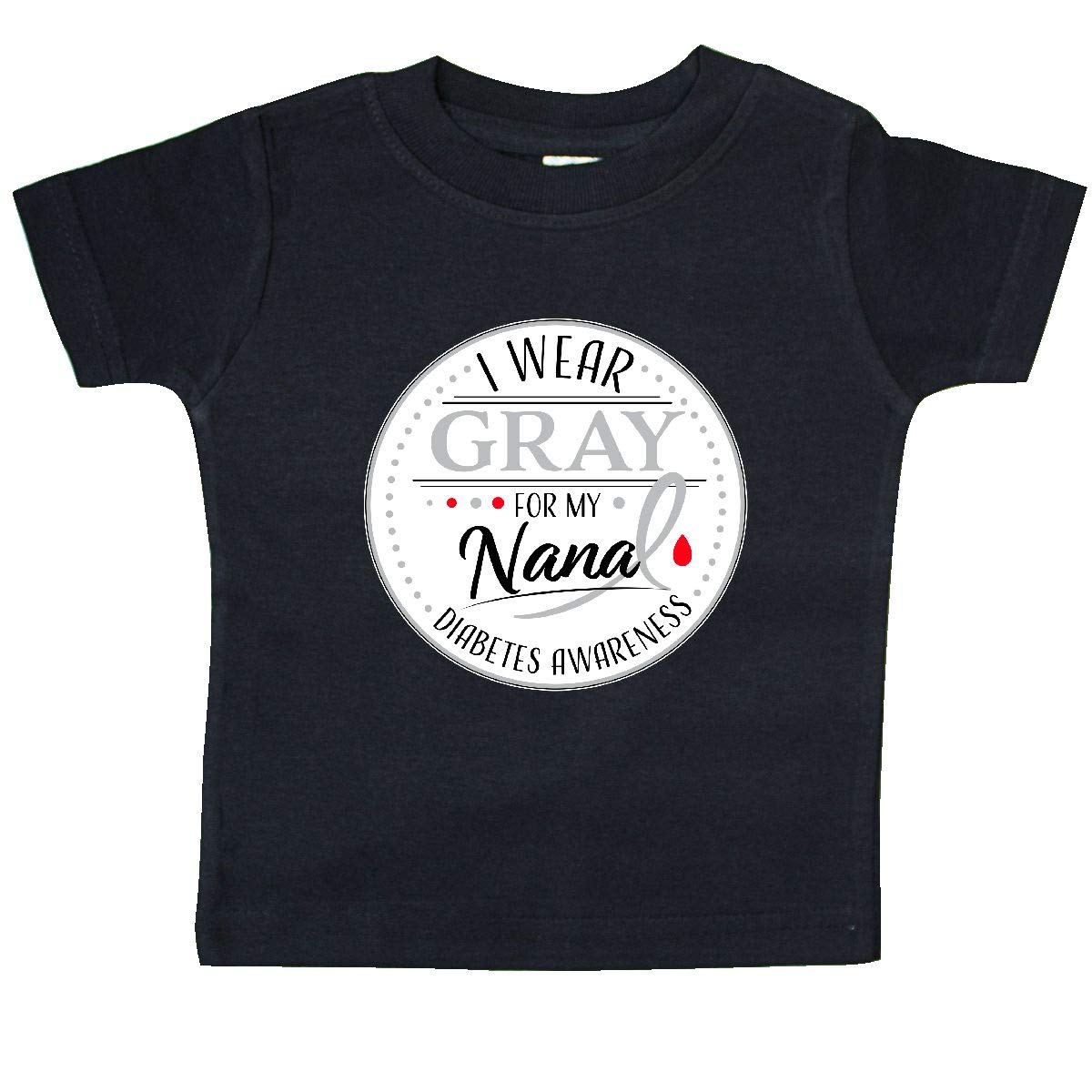 Diabetes Awareness Baby T-Shirt inktastic I Wear Gray for My Nana