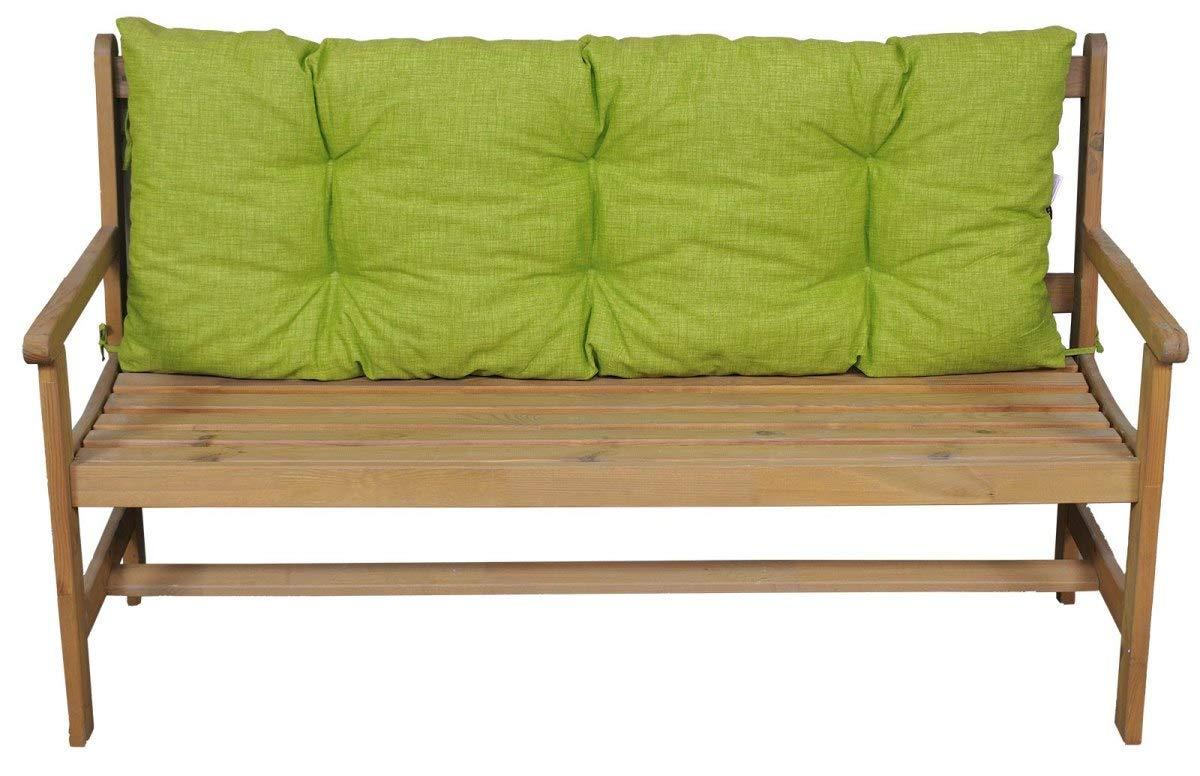 Kissen Polster Bankkissen 120 x 50 x 12 cm Stoff Nuevo Loneta gr/ün Auflage f/ür Gartenbank