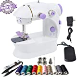Mini Sewing Machine Portable Sewing Machine 26 Packs Sewing Machine with Kits for Beginner Thread Scissors Threader…
