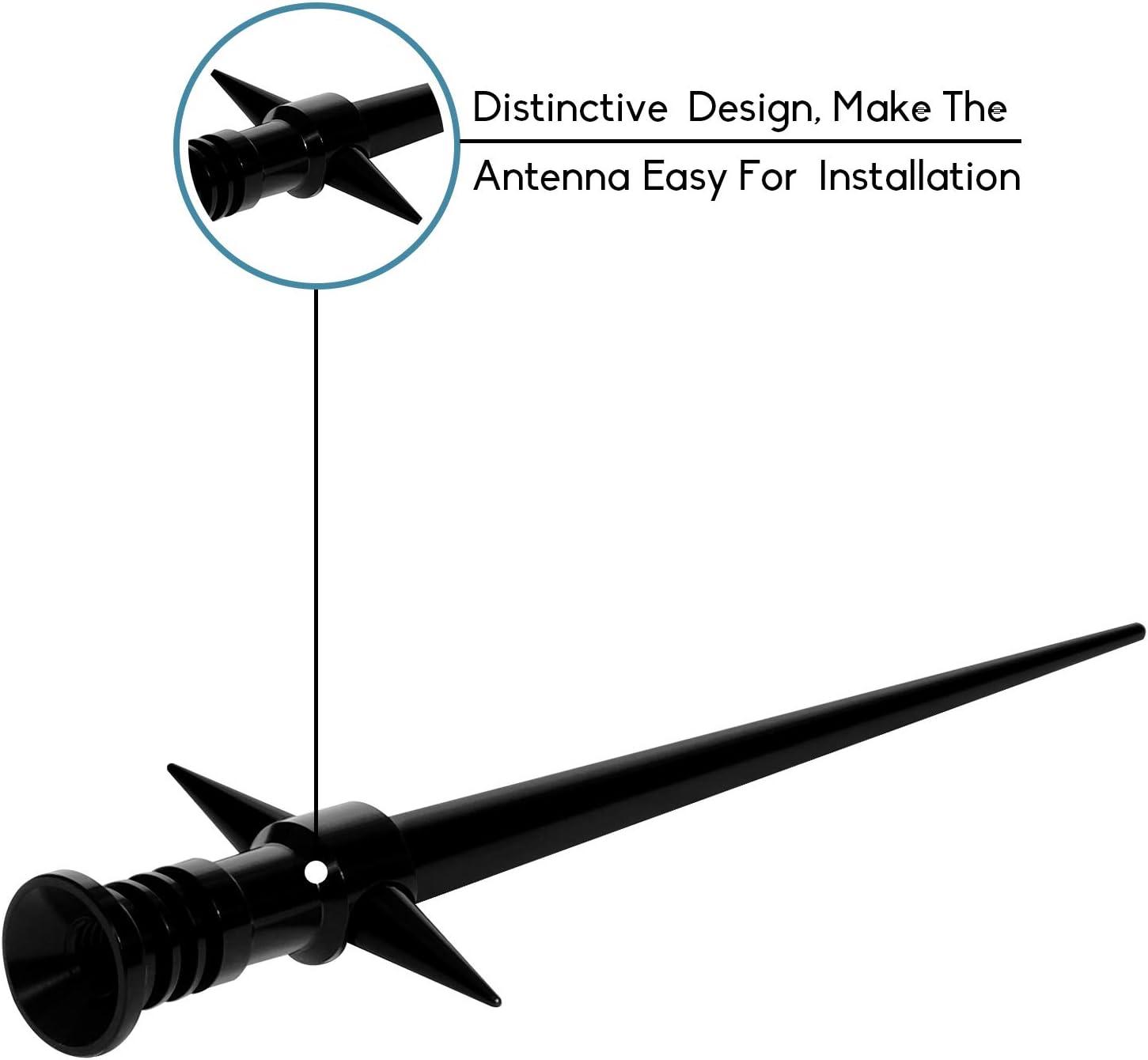 5.25 Inch LS02 DeepRoar Replacement Antenna for GMC Sierra 2007-2018 Black Optimized FM//AM Reception