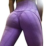Remikstyt Womens High Waist Leggings Tummy Control Textured Butt Lift Workout Yoga Pants Activewear