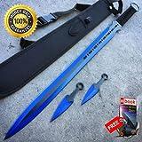 Best Defender Katana Swords - 28'' BLUE NINJA SWORD Full Tang Machete Tactical Review