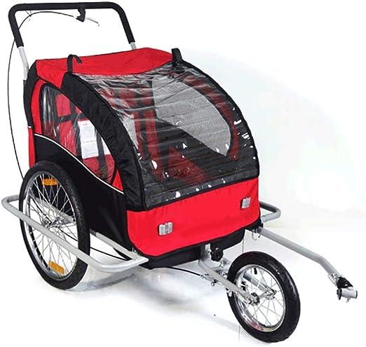 EVERAIE Remolque Bicicleta de niño Asiento Simple y Doble Asiento ...