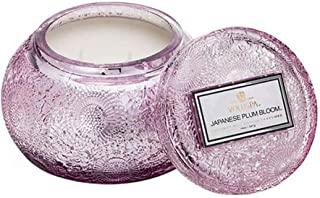 product image for Voluspa Japanese Plum Bloom Embossed Glass Chawan Bowl Candle, 14 Ounces