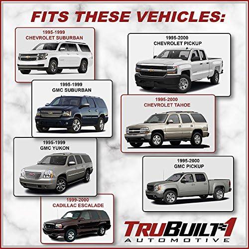 Replacement For: Chevrolet 1500 Cad 95-99 95-99 2500//3500 95-98 95-99 Suburban GMC 2500//3500 GMC 1500 95-98 95-99 GMC Yukon Tahoe 95-99 GMC Suburban TruBuilt 1 Automotive Chevy GM-15742229 Front Exterior Door Handle Left Driver Side 95-99